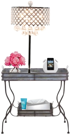 bar cart bed side table