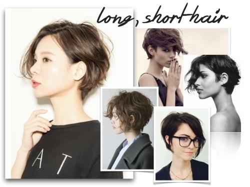long, short hair
